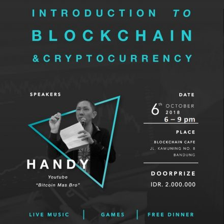 Introduction to Blockchain & Cryptocurrency @ Blockchain Cafe & Resto – 6 Oktober 2018