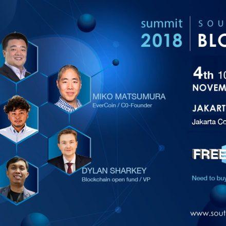Southeast Asia Blockchain Summit 2018 – Jakarta 3 November 2018