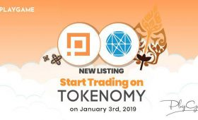 PlayGame Listing di Tokenomy Exchange Mulai 3 Januari 2019