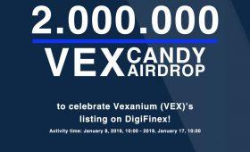 Listing di DigiFinex, Vexanium Distribusikan 2.000.000 Token VEX